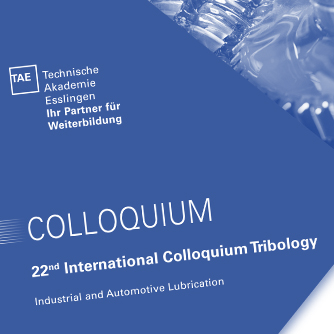 Announcement of the 22nd International Tribology Colloquium TAE
